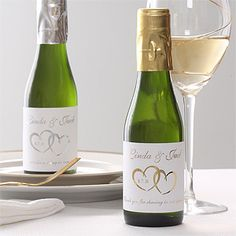small wine bottles party favor | ... guests in personalized style with our Personalized Wine Bottle Favors