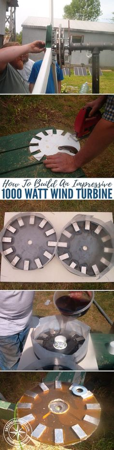 How To Build An Impressive 1000 Watt Wind Turbine — 1000 watts is great power for any home. This turbine help charge the battery bank that powers our offgrid home. It's a permanent magnet alternator, generating 3 phase ac, rectified to dc, and fed to a ch Renewable Energy, Solar Energy, Solar Power, Off The Grid, Alternative Energie, Save Energy, Solar Panels, Homesteading, Shtf