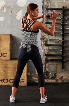 Tailor your tank to your workout by tying it up or leaving it loose.   CALIA by Carrie Underwood