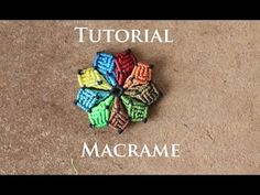 aros en macrame modelo 23 flor multicolor | macrame earrings tutorial - YouTube