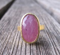 Ruby Ring- Gold Ruby Ring- July Birthstone Ring- Stone Ring- Statement RIngs- Gifts for Her-Gemstone Rings