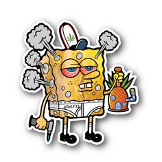 Spong Glob Sticker | Vinyl Stickers | Marijuana Stickers | Clear Stickers