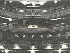 An early photograph of the Leicester Palace auditorium by T. Auditorium, Leicester, Palace, Gate, Photograph, David, History, Photography, Palaces