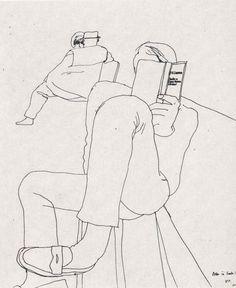"""lnamlch: """" David Hockney, Drawing """""""