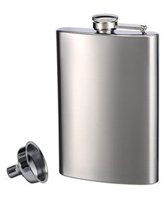 #luxuryhomes #bedroom #Stainless Steel Flask and Funnel.   Wholesale stainless steel 8oz hip flask and funnel set. This 2-piece discount set has many features. T...