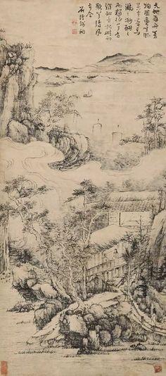 清初四大画僧,笔下的意境山水(作品全集)