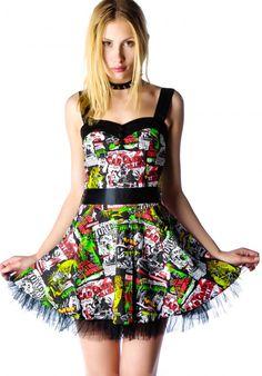 B-Horror Movie Mini Dress