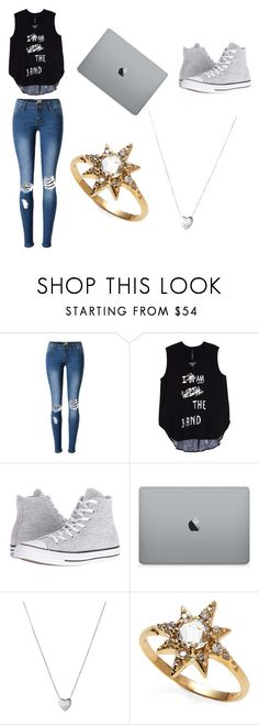 """""""Untitled #2"""" by maia-salazar ❤ liked on Polyvore featuring Melissa McCarthy Seven7, Converse, Links of London, Anzie, ombre, 60secondstyle and plus size clothing"""