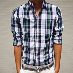 nice shirt. cool buttons.