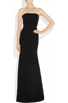 Victoria Beckham|Strapless silk-blend stretch-crepe gown|NET-A-PORTER.COM // I want to own my own Victoria Beckham dress someday. I love her designs.