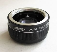 Just listed at only £7.95 for 7 days. Hanimex Auto Tele Converter 2x Made in Korea