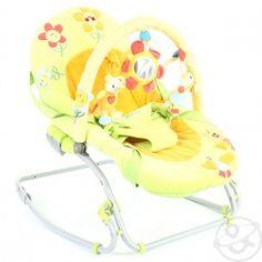 Кресло-качалка Brevi Swing-n-Sleep, цвет: зелено-оранжевый - купить в Дочки-Сыночки