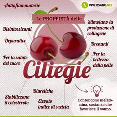 Ciliegie Healthy Tips, Healthy Recipes, Healthy Food, In Natura, Diet And Nutrition, Organic Recipes, Superfood, Natural Remedies, Health And Wellness