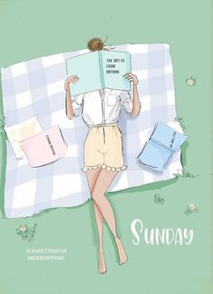 Cute Cartoon Girl, Girl Cartoon, Etiquette And Manners, Hello Weekend, Hello Sunday, Fashion Artwork, Happy Quotes, Sunday Quotes, Cute Drawings