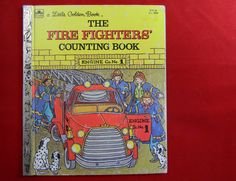 The Fire Fighters Counting Book. 1983. Vintage Little Golden Book. Counting Book