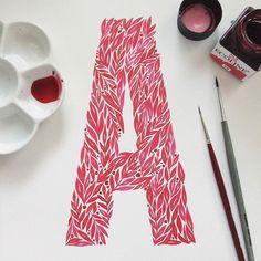 Amazing work by @unakritzolina - #typegang - free fonts at typegang.com | typegang.com #typegang #typography