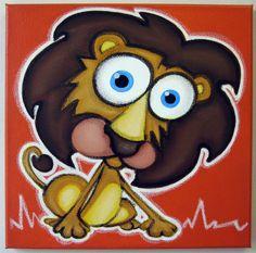 Sûrement la plus mignon lion que vous avez jamais vu !  Il choisit de le dominer par la gentillesse. Après tout, il est juste un gros chat furry;)