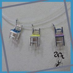 Sterling silver handmade pendant Miniature chair by AntJewellery.