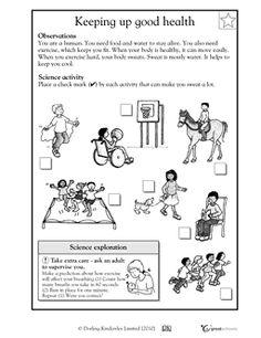Keeping up good health - Worksheets & Activities | GreatSchools
