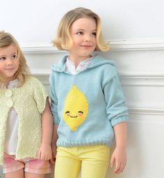 Modèle pull sweat citron fille