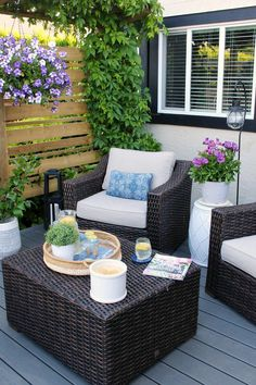Outdoor Living Summer Patio Decorating Ideas is part of Summer decor Patio - Get your patio looking its best with these simple summer patio decorating ideas Make the most out of your space and create a private backyard paradise! Patio Seating, Pergola Patio, Backyard Patio, Pergola Kits, Pergola Ideas, Balcony Ideas, Patio Table, Patio Chairs, Teak Table