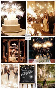 Starry Night Sparkler Wedding #IdeaBoard #InspirationBoard