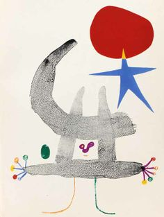 Juan Miro, lithography for 'Parler Seul' by Tristan Tzara, Tristan Tzara, Joan Miro Pinturas, Pablo Picasso, Abstract Expressionism, Abstract Art, City Museum, Spanish Painters, Art Graphique, Famous Artists