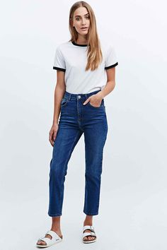 BDG - Jean Girlfriend bleu moyen