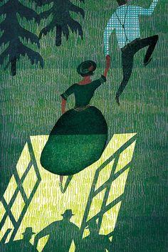 littlechien: littlechien via carnetimaginaire mainlyillustrations: 'The Blue castle' by Masako Kubo