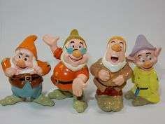 Disney Snow White and the Seven Dwarfs Figures ~ Dopey Happy Sneezy Doc #Disney