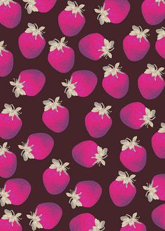 Strawberries and Chocolate Pattern by Georgiana Paraschiv