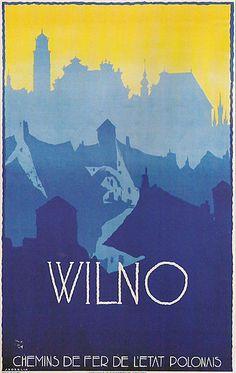 1928 Wilno - CHEMINS DE FER DE L'ETAT POLONAIS - Polskie Koleje Państwowe :)