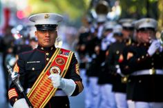 Columbus Day Parade - U.S. Marine Corps photo by Sgt. Randall A. Clinton
