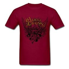 Alice In Chains Logo pretty letters Farmde Men 39 s Tshirt Cool Style Amazon com