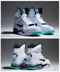 Nike Air Command Force High: White/Black-Wolf Grey-Hyper Jade