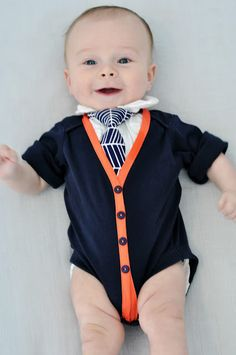 How to make baby cardigans from onesies. If I ever have a boy, I swear I will learn to sew just for this!