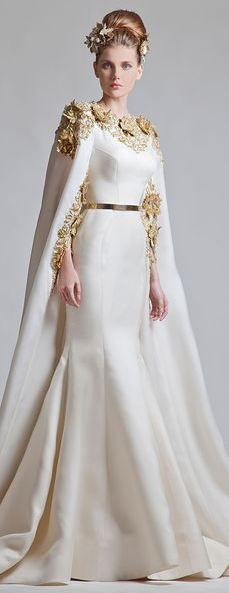 KRIKOR JABOTIAN COUTURE SPRING-SUMMER 2013  How Stately. I can see the duchess of Cambridge in this.