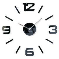 Made in EU. Silent non tiocking. Modern Loft, Modern Wall, Diy Clock, Cladding, Black Silver, Mirror, Wall Clocks, Home Decor, Self