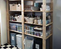 ikea pantry shelving - Google Search