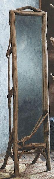 I know it's a mirror, but in the photo it looks like a blackboard. Use a similar idea where I want a blackboard.