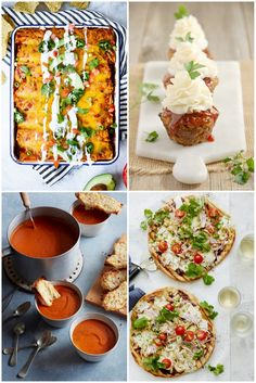 7 Easy Dinners for Now and Later: The Double Everything and Freeze It Meal Plan: Tomato Soup, Grilled Pizzas, Enchiladas and More