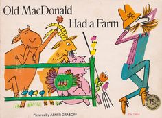 my vintage book collection (in blog form).: Old MacDonald Had a Farm - illustrated by Abner Graboff