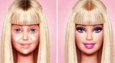 Barbie Before and After Makeup