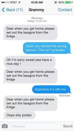 Silly grandma!