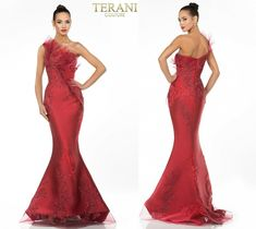TERANI COUTURE 1911E9095 authentic dress. SEE VIDEO. BEST PRICE! FREE UPS/FEDEX   eBay Terani Couture, See Videos, Wedding Styles, Notes, Formal Dresses, Long Sleeve, Free, Ebay, Color