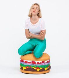 Pouf hamburger