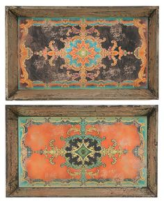 "Asst. of 2 25"" Moroccan Trays 
