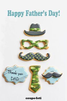 icing cookies for father's day