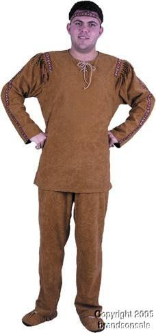 Adult Men's Indian Brave Costume (X-Large 46-48) Makes a great Halloween costume. Costume comes with character suede shirt. Also includes matching pants. Headband.  #Charades #Apparel