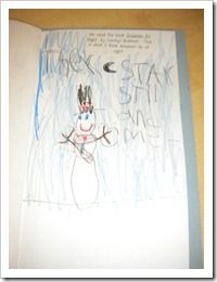 We read Snowman at Night and wrote about what they thought snowmen do at night.